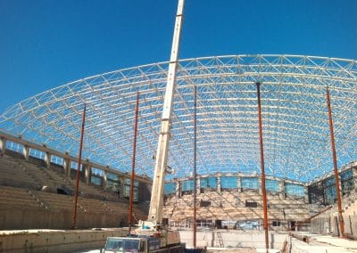 space frame roof structure